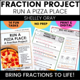 Run a Pizza Place: A Fraction Math Project | 3rd and 4th Grade Fraction Project
