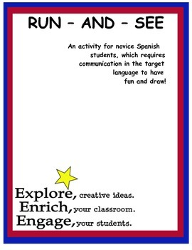 Run-and-See: Spanish Activity with Basic Shapes and Prepositions
