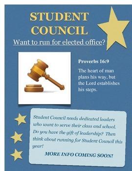 Run for Student Council (Christian School)
