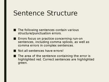 Run-on Sentence Correction Practice