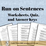 Run-on Sentence Worksheets, Quiz and Answer Keys