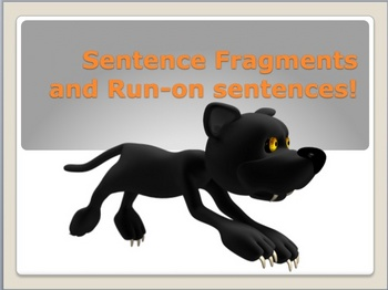 Run-on Sentence and Sentence Fragment PowerPoint lesson practice
