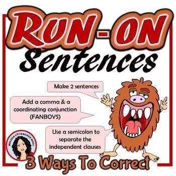 Run-on Sentences Activity