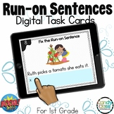 Run-on Sentences Activities: BOOM Cards™ for 1st Grade Grammar Centers