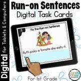 Run-on Sentences Activity: First Grade Digital Task Cards for Grammar Practice
