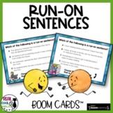 Run On Sentences Boom Cards™ | Comma Splices & Fused Sentences