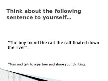 Run on Sentences Introduction Lesson