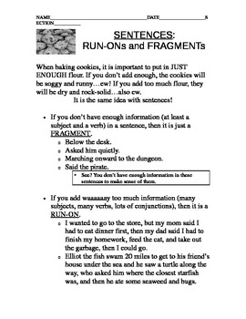 Run-on Sentences and Fragments