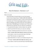 Run-on Sentences humorous exercises