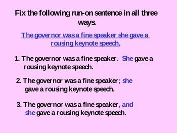 Run-on Sentences keep runnin' on!