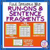 Run-ons and Sentence Fragments - Find Someone Who