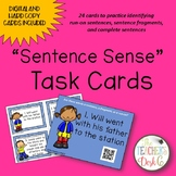 Run-ons, Fragments, and Sentences Task Cards Distance Learning
