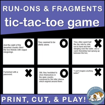 Run-ons and Fragments TicTacToe Game