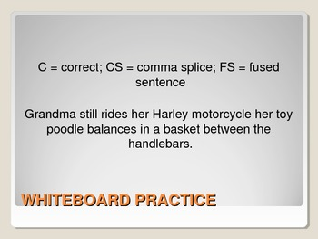 Run-ons: fused sentences & comma splices