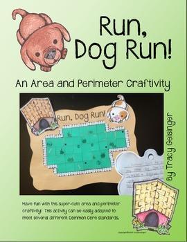 Run,Dog Run!  An Area and Perimeter Craftivity