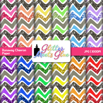 Runaway Chevron Paper {Scrapbook Backgrounds for Task Card