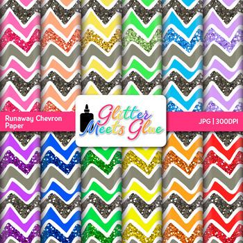 Runaway Chevron Scrapbook Paper Backgrounds 1 {Glitter Meets Glue}