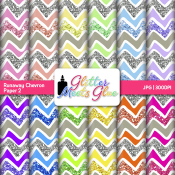 Runaway Chevron Paper {Scrapbook Backgrounds for Task Cards & Brag Tags} 2