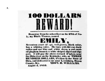 American Slavery: Runaway Fugitive Slave Ads