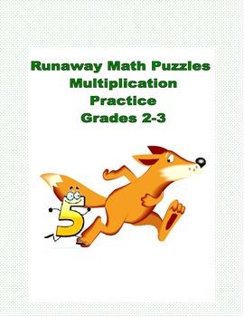 Runaway Math Puzzles Multiplication Math Practice Grades 2-3
