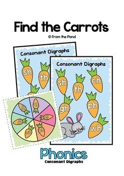 Digraphs Games Runaway Rabbit - Phonics Literacy Centers