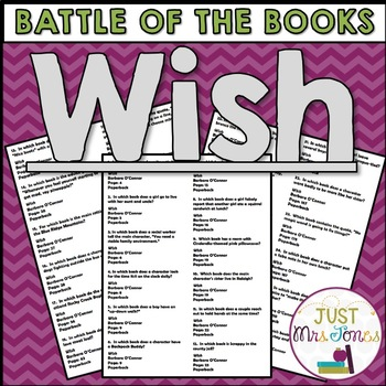Wish Battle of the Books Trivia Questions