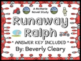Runaway Ralph (Beverly Cleary) Novel Study / Reading Compr