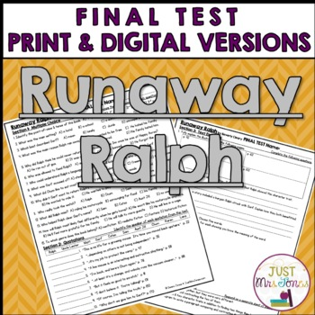 Runaway Ralph Final Test