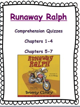 Runaway Ralph Quizzes - Chapters 1-7