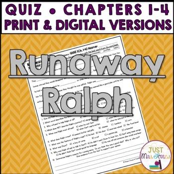 Runaway Ralph Quiz (Ch. 1-4)