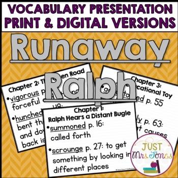 Runaway Ralph Vocabulary Presentation