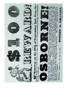 Runaway Slave Reward Poster: Primary Source Evaluation
