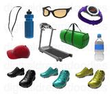 Runner Clip Art - Fitness Track and Field Digital Graphics