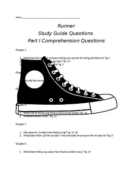 Runner by Carl Deuker Comprehension Questions Part I