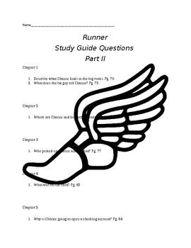 Runner by Carl Deuker Part II Comprehension Questions