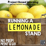 Project Based Learning: Run A Lemonade Stand (PBL) For Print & Google Classroom