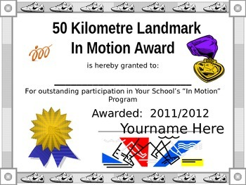 Running Track Club Awards - In Motion Awards - Cross Country