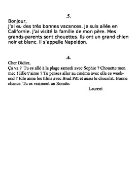 Running Dictation: Bien Dit 2, Chapter 1. French 1 Letters. Speaking!