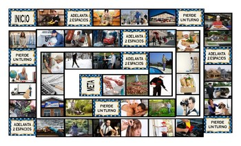 Running Errands-Having Things Done Spanish Legal Size Photo Board Game