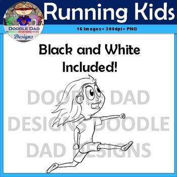 Running Kids Clip Art (Jumping, Running, Action, Soccer, Physical Education)