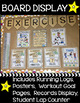 Running Log and Exercise Poster Bulletin Board Set