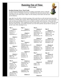 Running Out of Time Word Study Vocabulary Activity