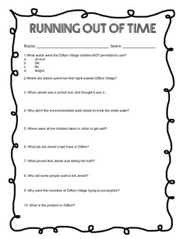 Running Out of Time Questions