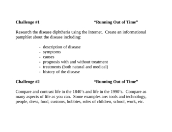 """""""Running Out of Time"""", by MP Haddix, Challenges"""