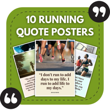 Running Posters - 10 Great Quotes About Running for Sports Bulletin Boards