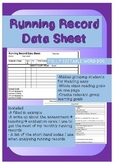 Running Record Classroom Data Sheet