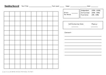 Running Record - Fluency Format
