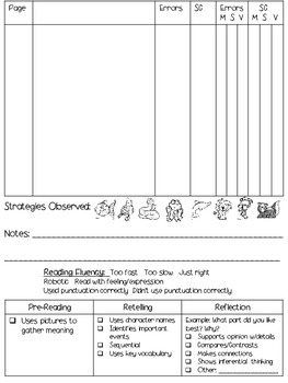 Running Record Forms for Fiction AND Non-Fiction!