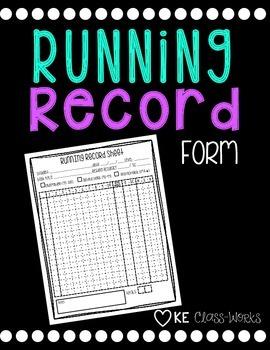 Running Record Form