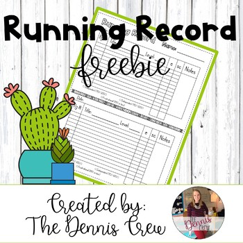 Running Record Freebie